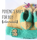 KIT Reguler: Baby Set for Boy Knitting Kit